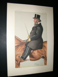 Vanity Fair Print 1882 John Whitaker Ellis. Mayor, Sport Rider